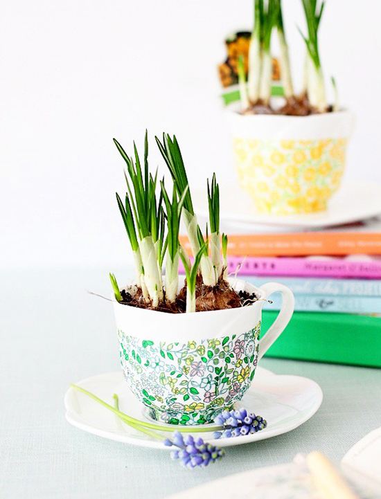 DIY-Easy-Christmas-Gift-Ideas-decoupage-tea-cup-planter