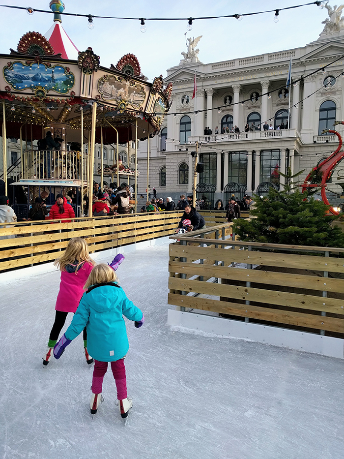 Ice-Rink-in-Zurich,-Switzerland-Christmas-Travel-Ideas