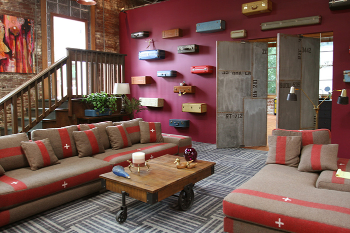 Industrial-Style-Living-Room-Berry-Walls-Ideas