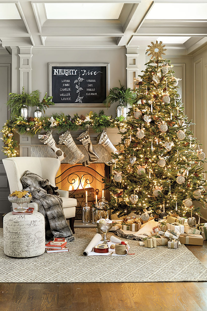 Modern-Christmas-Fireplace-Decoration-Ideas