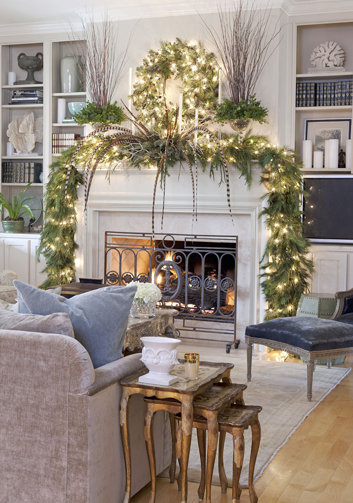 Modern-Christmas-Fireplace-Decoration