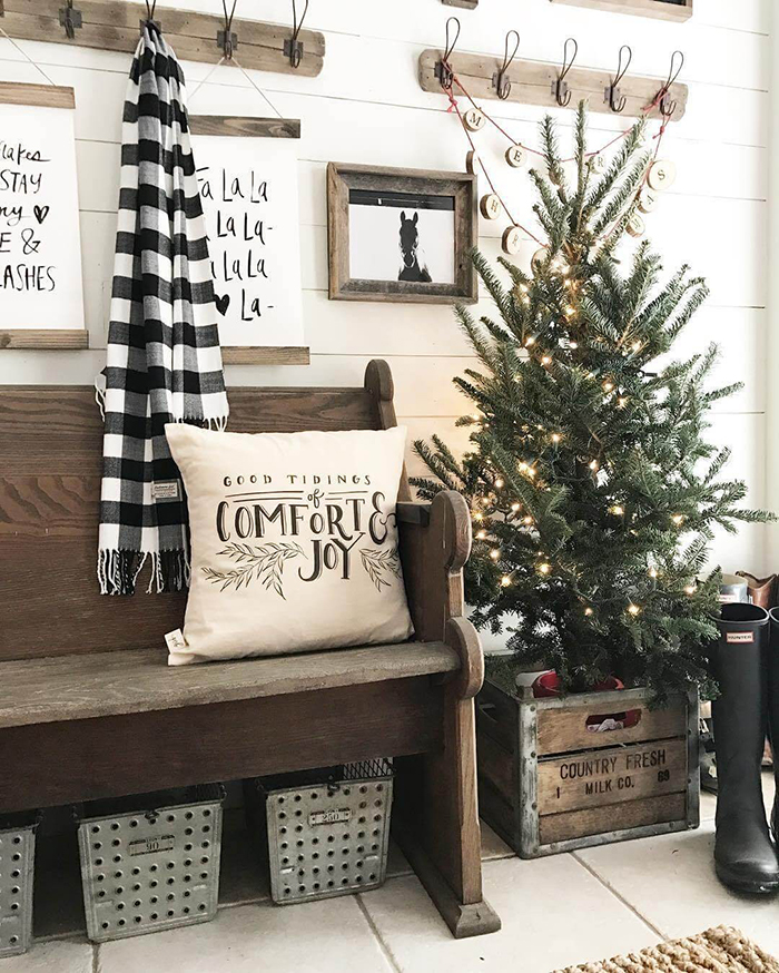 Natural-Rustic-Christmas-Home-Decoration-Ideas