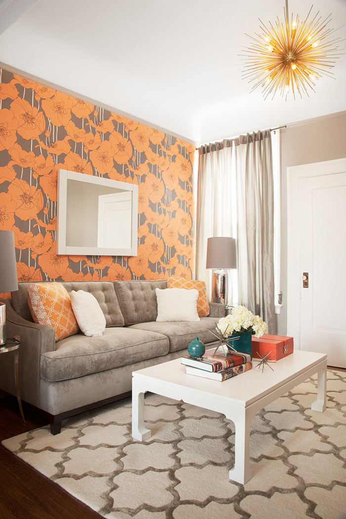 Orange-Wall-Cover-Ideas