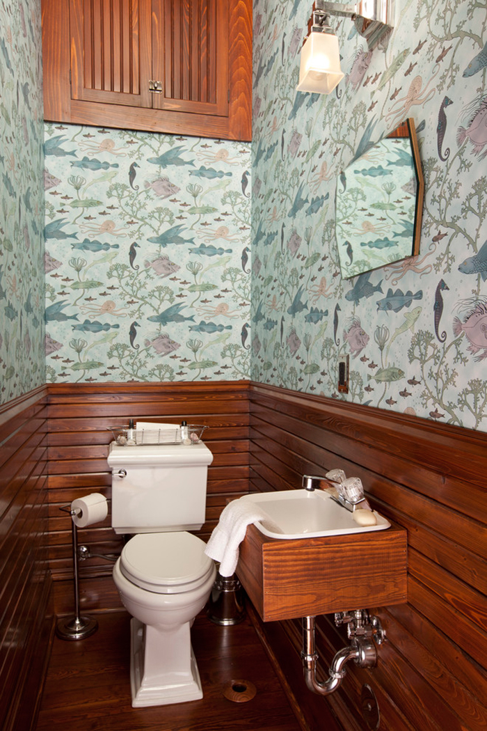 Vintage Wall Covers Ideas for Bathroom