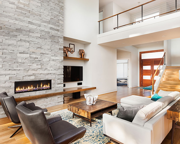 Wall-Fireplace-Modern-Apartment-Ideas