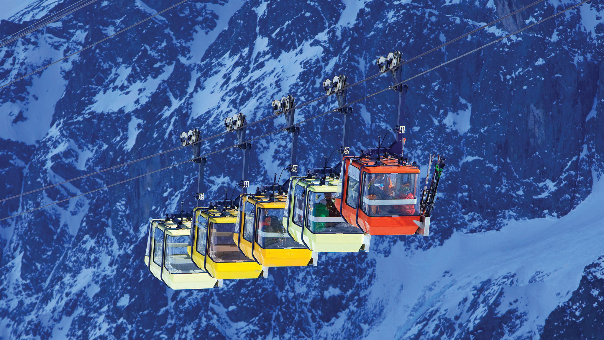 One of the highest ski lifts