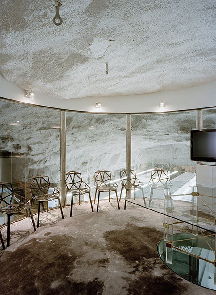 Bahnhof office underground conference room