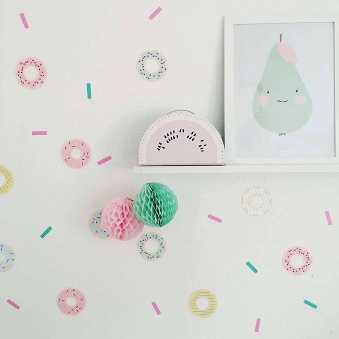 Donuts-Kids-room-wall-decor-ideas