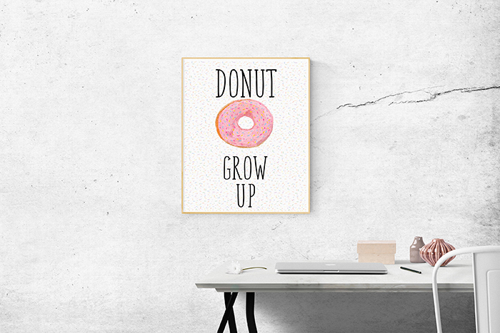 Donuts-wall-and-desk-decor-ideas