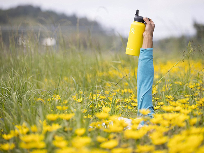 Plastic alternative yellow thermos