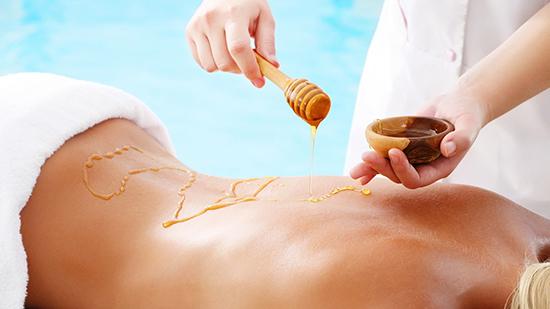 Massage with honey
