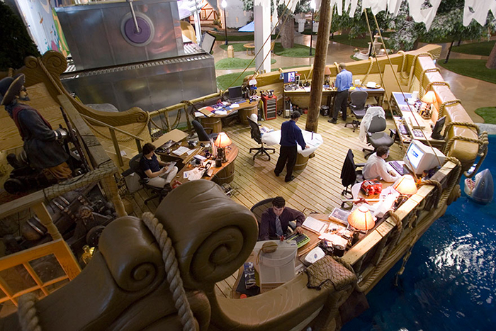 Inventionland Design Factory office workplace boat