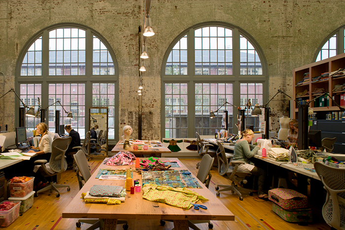 Urban outfitters cozy underground office space