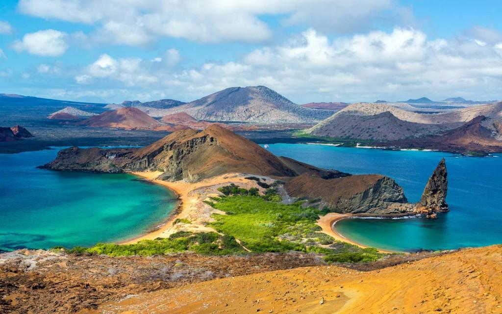 Beautiful beaches on Galapagos island in Ecuador