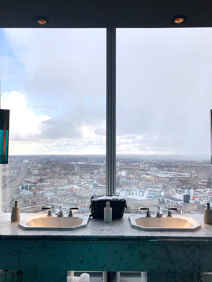 Amazing panorama view from Aqua Shard ladies room