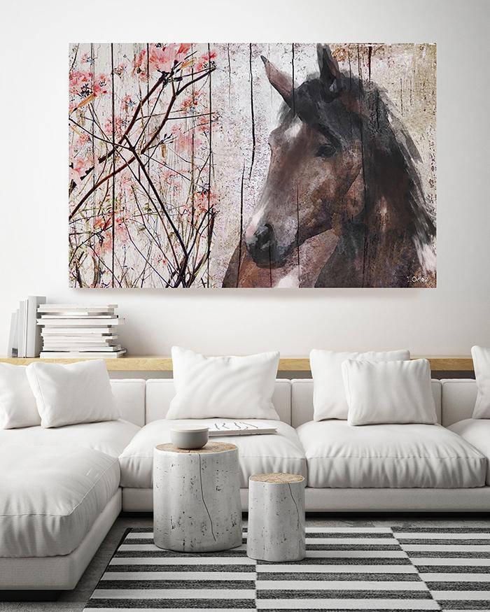 Large blooming spring decor artwork