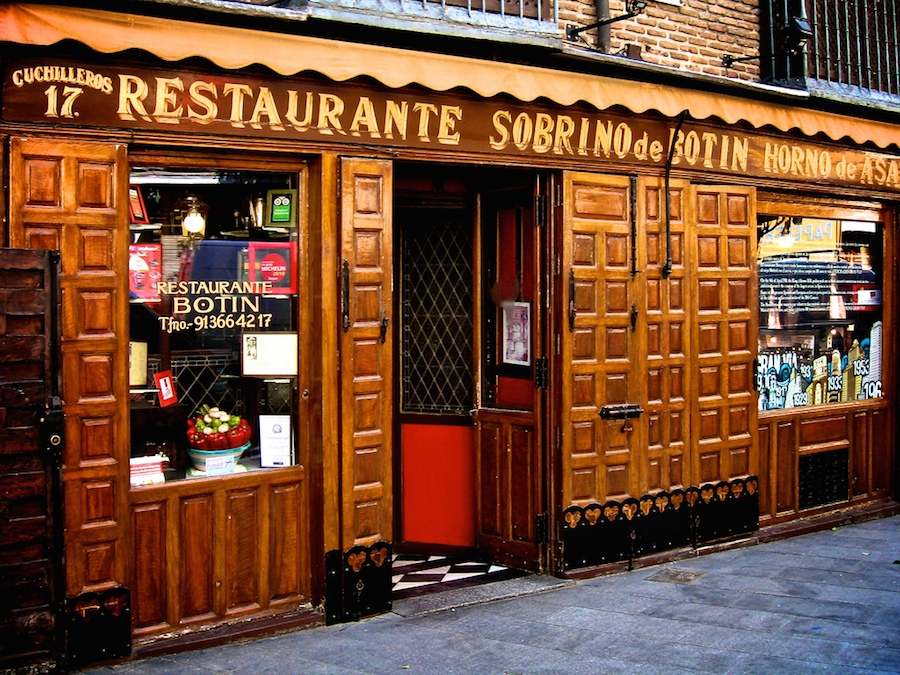 Front of Botin restaurant