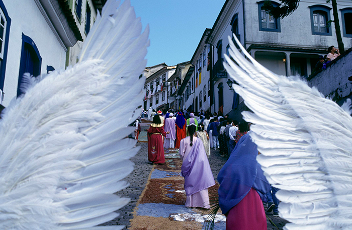 Traditional Easter in Brazil angel wings