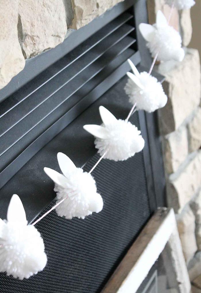 Plastic free bunny pom pom