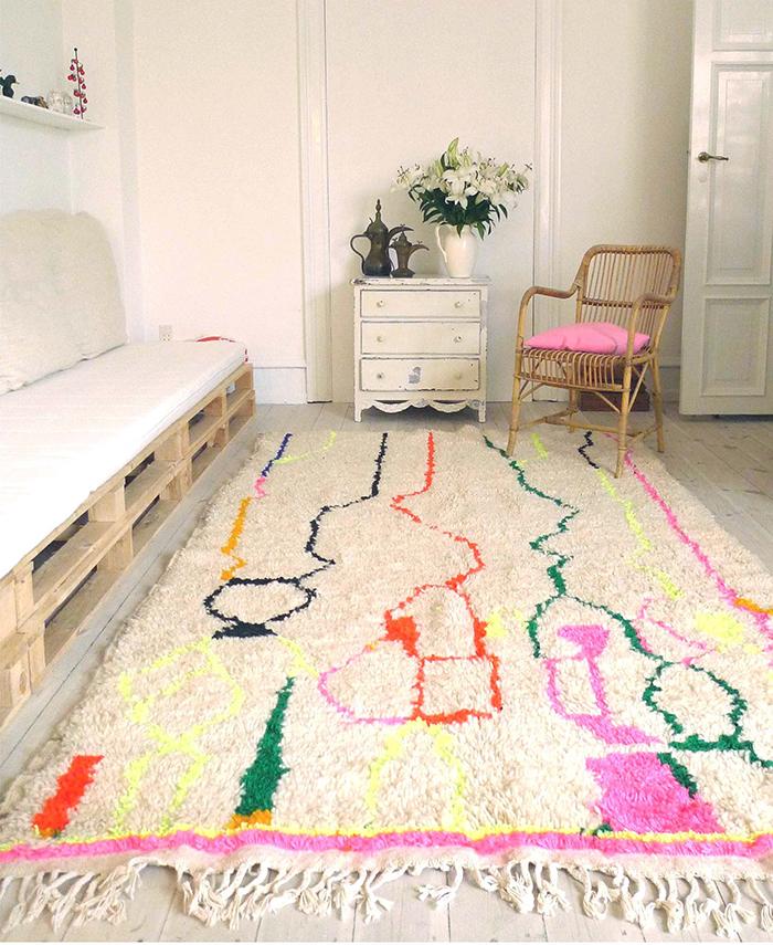 Beautiful colorful carpet