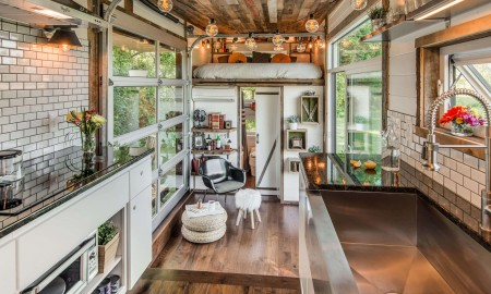 Tiny house with vintage interior