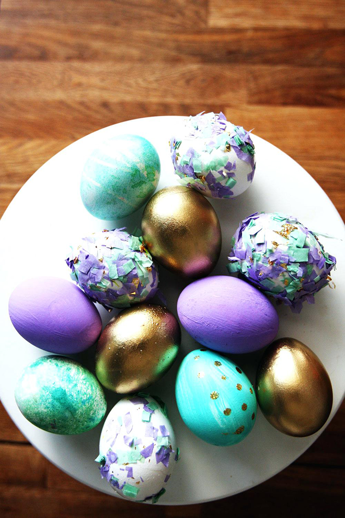 Easter eggs with nice colors and design