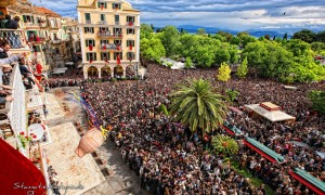 Traditional Easter celebration in Corfu Greece