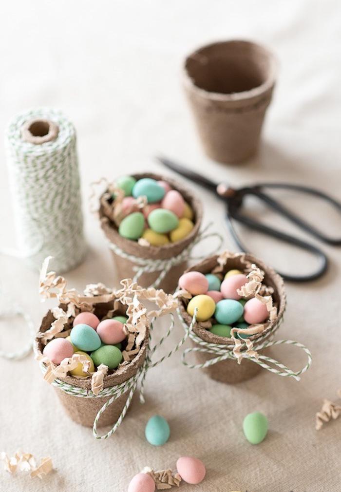 Handmade holders for mini eggs