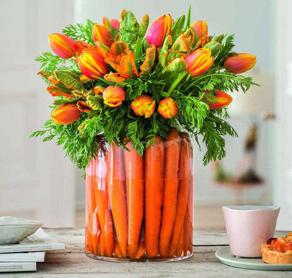 Easter carrot table centerpiece decoration