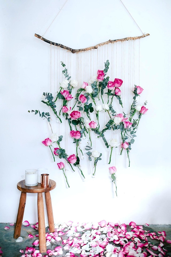 DIY flower roses wall decoration