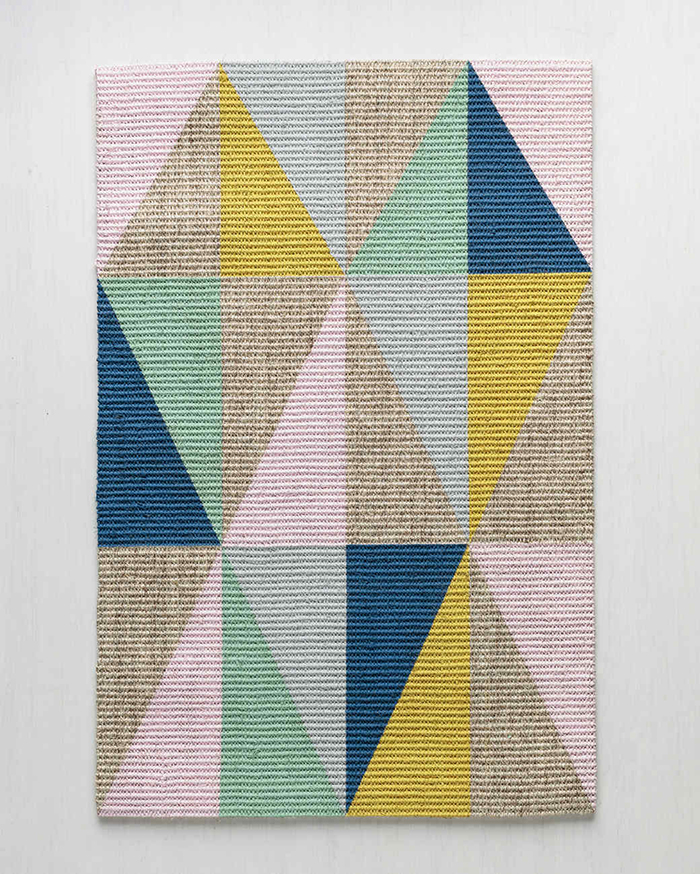 Colorful geometrical rug