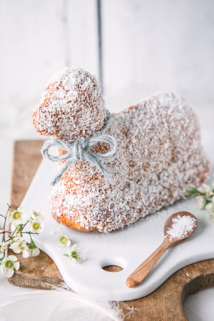 Traditional Easter Germany cake Osterlamm