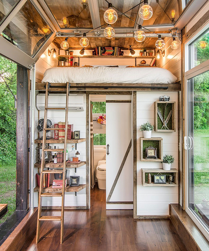 Vintage style tiny house on wheels