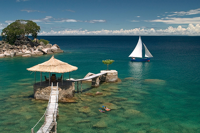 Beautiful view from Lake Malawi, East Africa