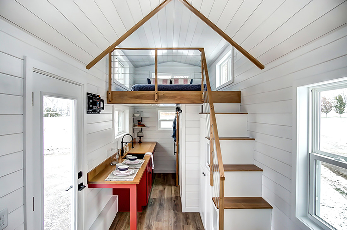 Modern tiny house on wheels