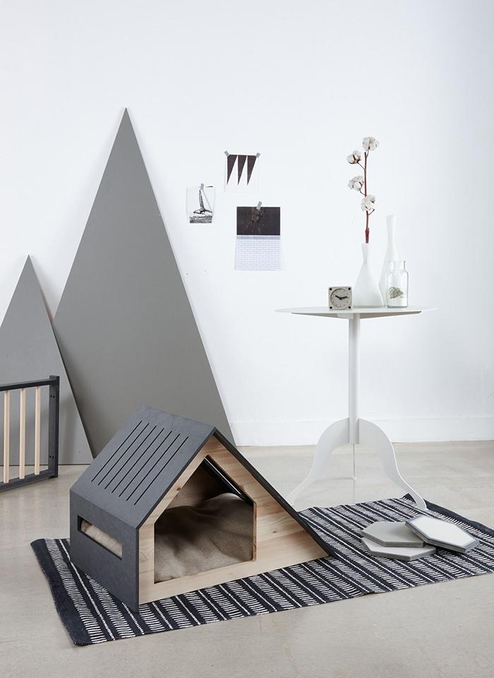 Modern Scandinavian style pet house in grey
