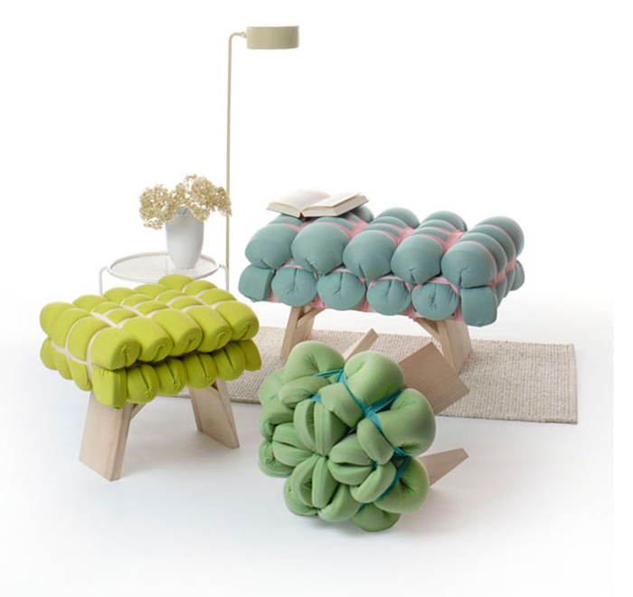 Modern furniture made of textile
