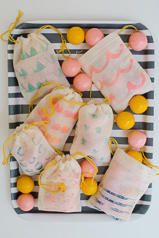 Natural jelly candies and nicely designed bags