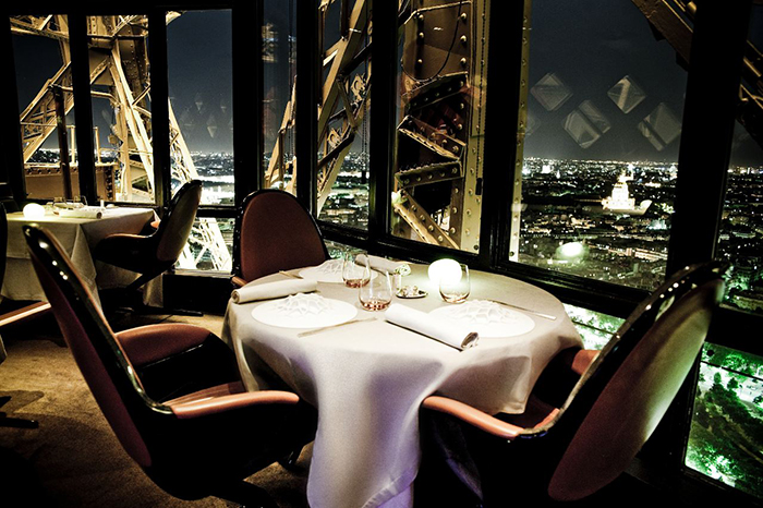 Breathtaking view from Le Jules Verne restaurant in Paris