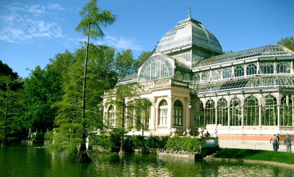 The Cristal Palace in Retiro Park during spring