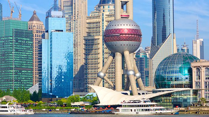 Big skyscrapers in Shanghai China