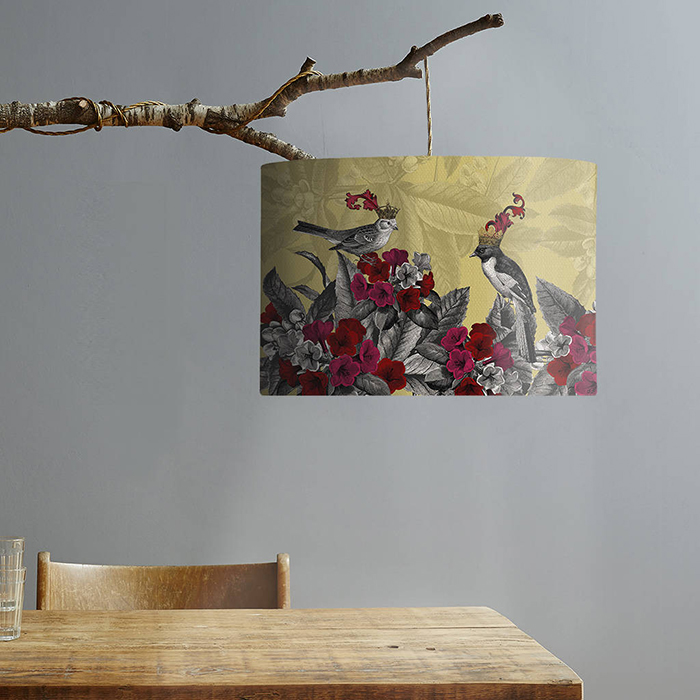 Artwork hanging on branch home decor