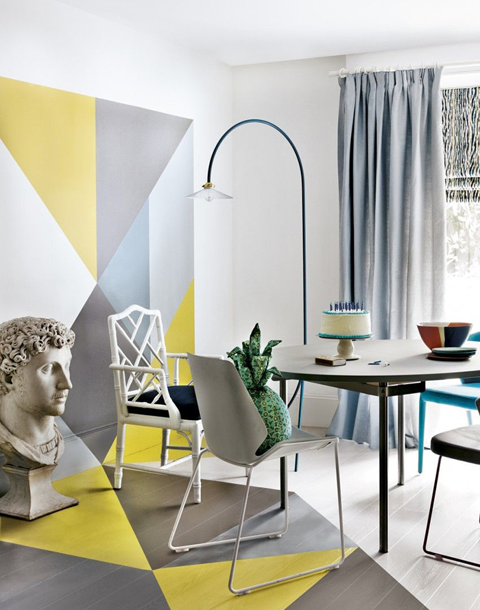 Pastel wall colors for spring decor