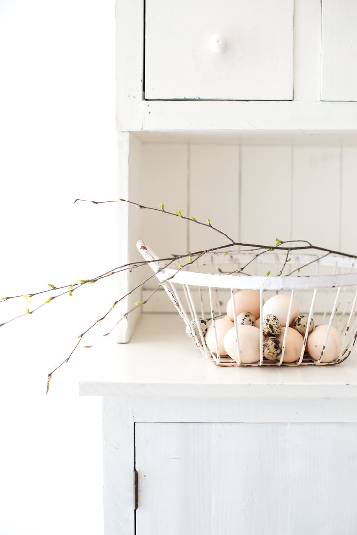 Eggs on the kitchen desk