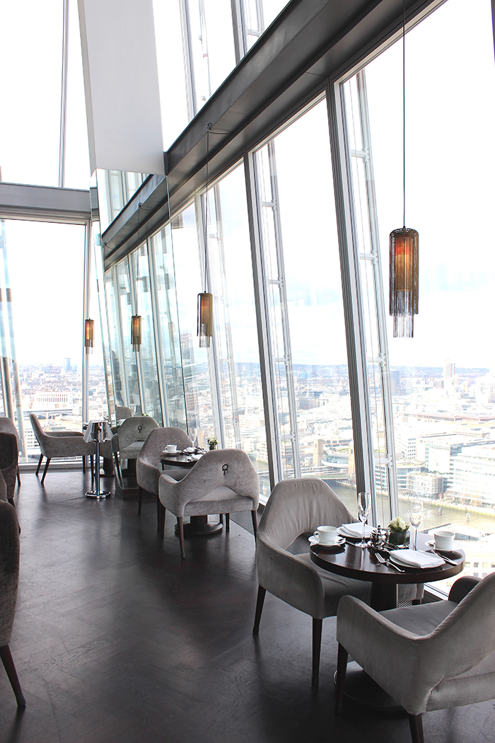 Main room in Aqua Shard restaurant in London