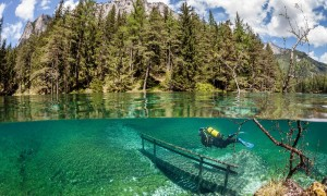 Scuba diving in lakes