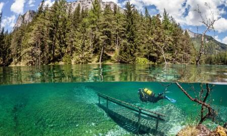 Scuba diving in lakes