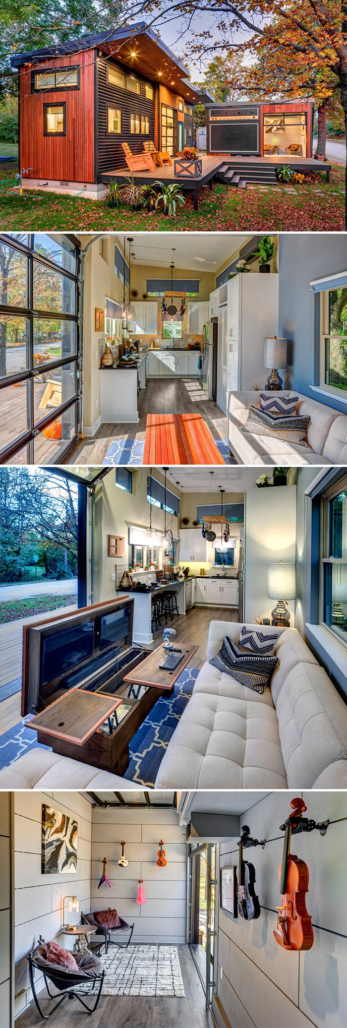 Tiny house interior and outside look