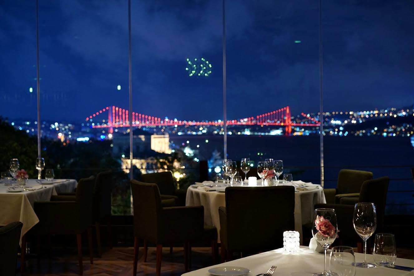 Topaz restaurant view in Istanbul