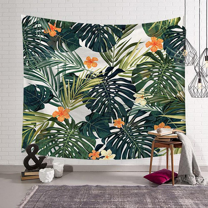 Tropical textile wall art